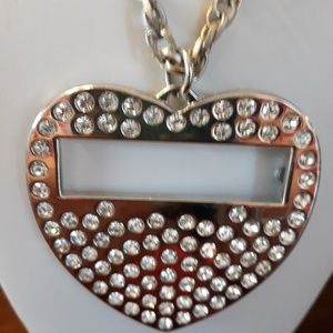 Jewelry - Big rhinestone heart necklace